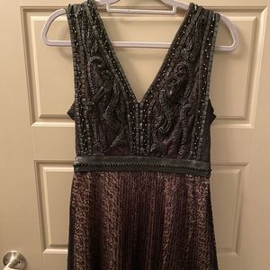 French Connection Leather and Lace Cocktail Dress